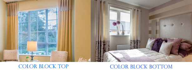 color block curtains gray custom drapes panels blue and white