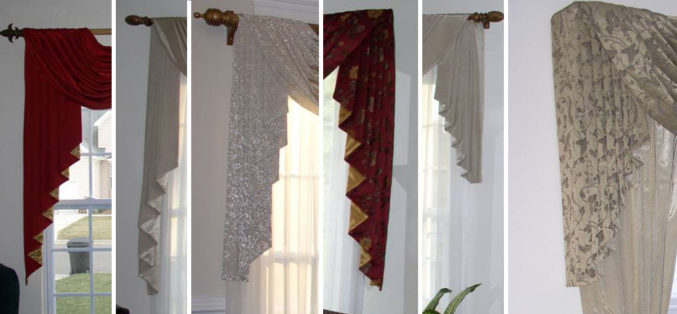Custom Window Sconces I Swag Curtains I Cascades - Windows Dressed Up