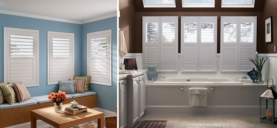 wood shutters plantation shutters interior affordable custom composite shutters custom composite plantation shutters Graber Composite Shutters white Bathroom Shutters plantation Shutters