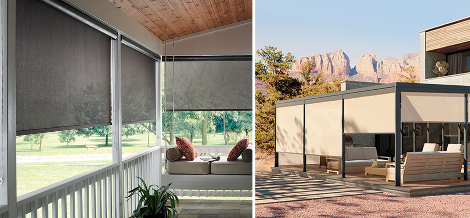 Solar Shades I Patio Sun Outdoor Curtains Windows