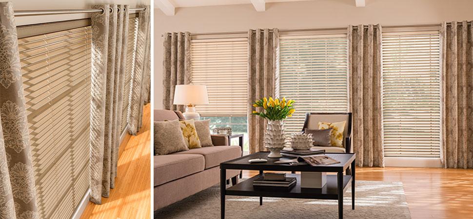 custom Fabric Blinds Sorenta No Holes curtain panels fabric blinds living room darkening