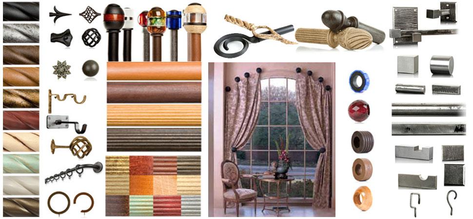 Custom Curtain Rods I Drapery Hardware I Finials Windows
