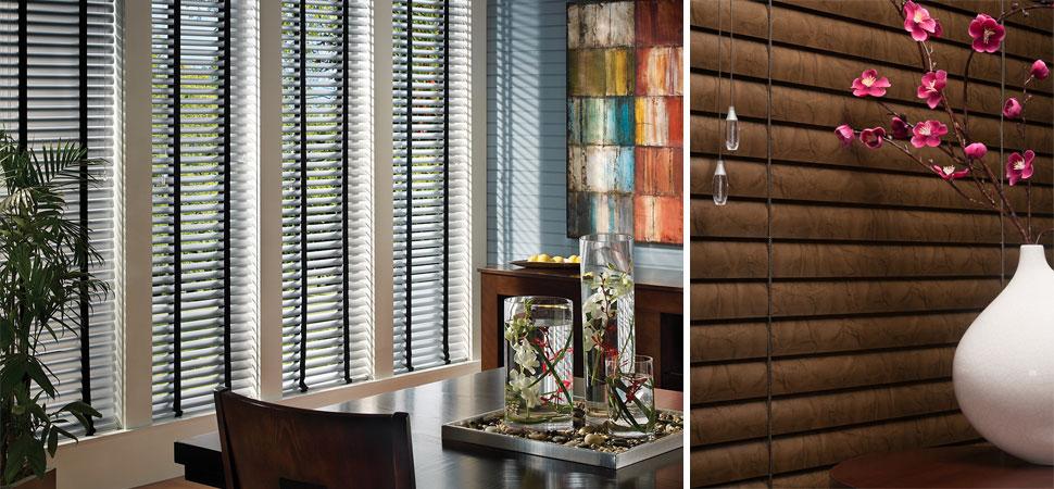 mini blinds - venetian blinds - aluminum blinds Hunter Douglas Precious Metals Mini Blinds