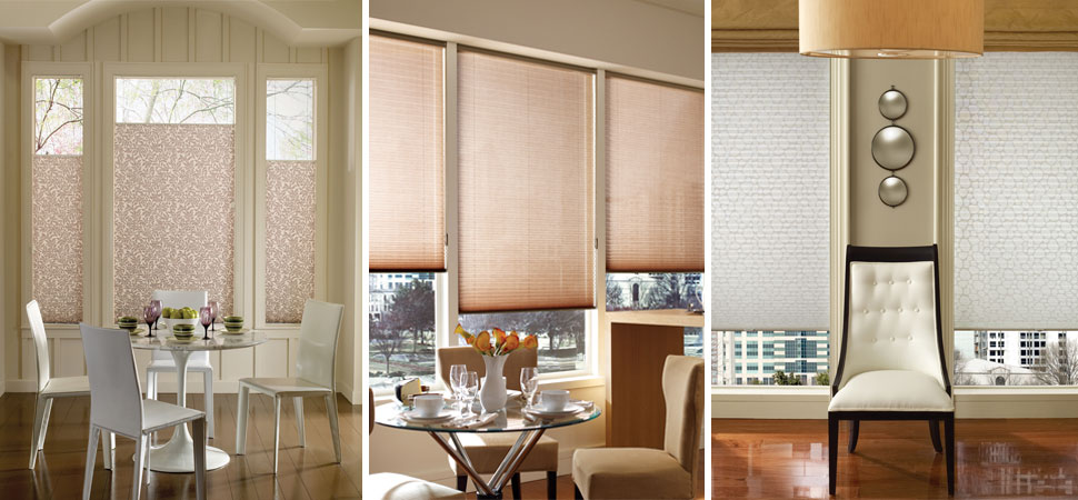 Hunter Douglas pleated shades pink shades top down bottom up shades paisley shades floral shades