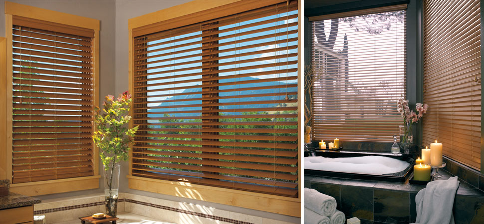Faux Wood Blinds Bathroom Venetian Blinds Ideas Light Filtering Large Window