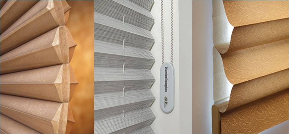 Cellular shades pleated shades honeycomb shades Hunter Douglas beige cellular shade grey honeycomb shade gold cellular shade white honeycomb shade