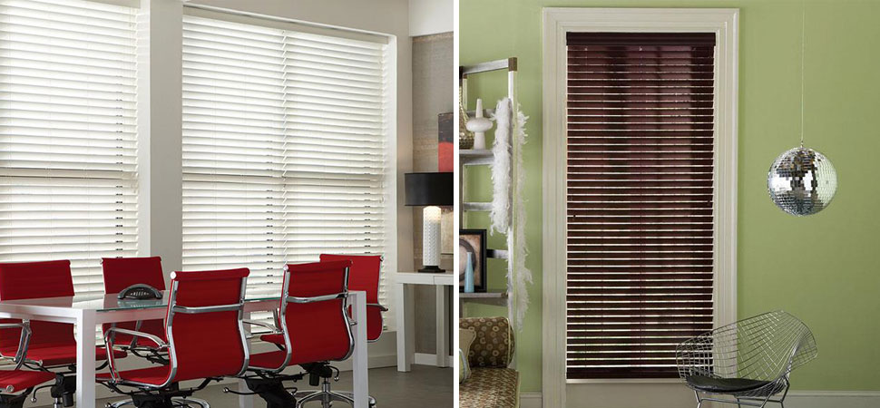 Wide White Faux Wood Blinds Office Ideas French Door Room Darkening