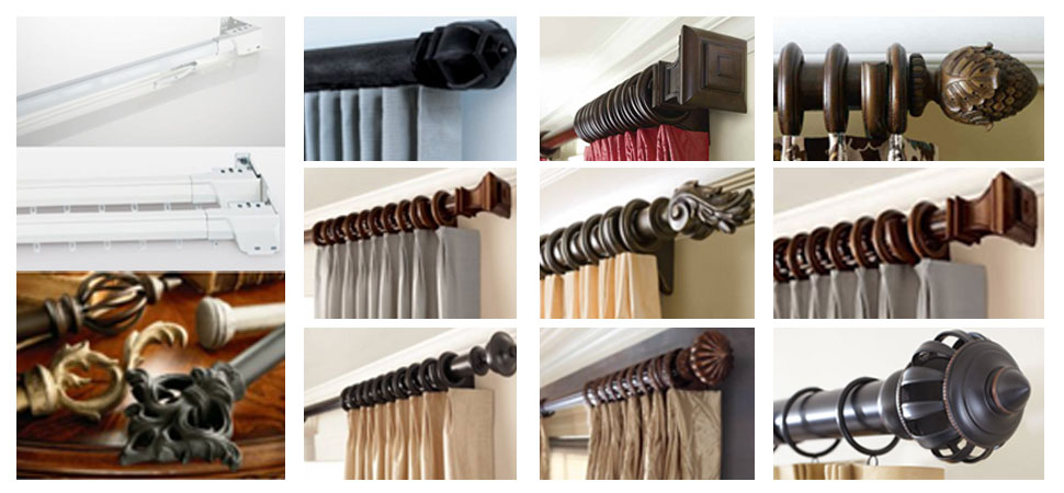 Custom Curtain Rods I Drapery Hardware I Finials Windows
