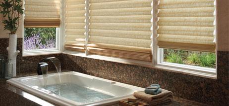 bathroom ideas window curtains hunter douglas roman shades vignette