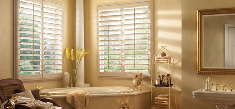 bathroom ideas wood plantation shutters interior
