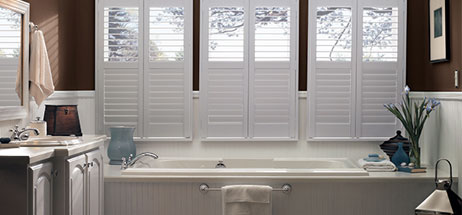 bathroom ideas vinyl shutter faux wood shutter