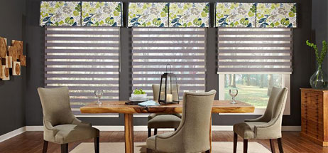 We Specialize In Custom Curtains O Drapes Valances Roman Shades Plus Blinds Shutters Dining Room