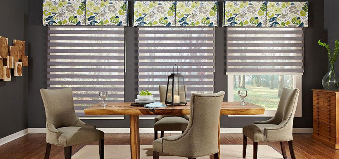 Dining room ideas i window coverings i curtains windows for Dining room valance ideas