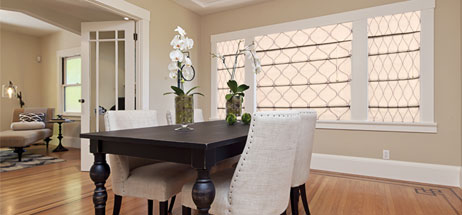 dining room ideas roman shades window treatments custom