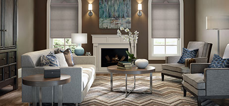 living room decor ideas grey blinds