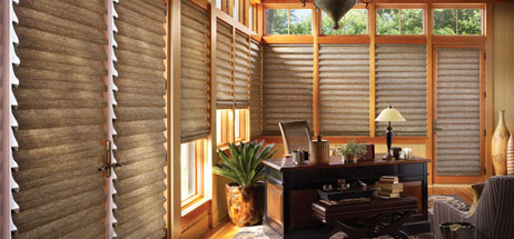 office den decorating ideas. Home Office Ideas Den Decorating Hunter Douglas Vignette Roman Shade