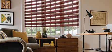 office den decorating ideas. Home Office Ideas Den Decorating Wooden Blinds